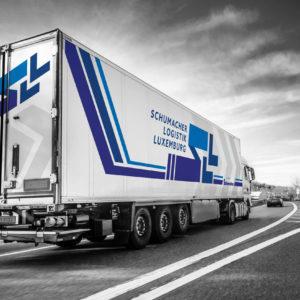 White truck on german highway
